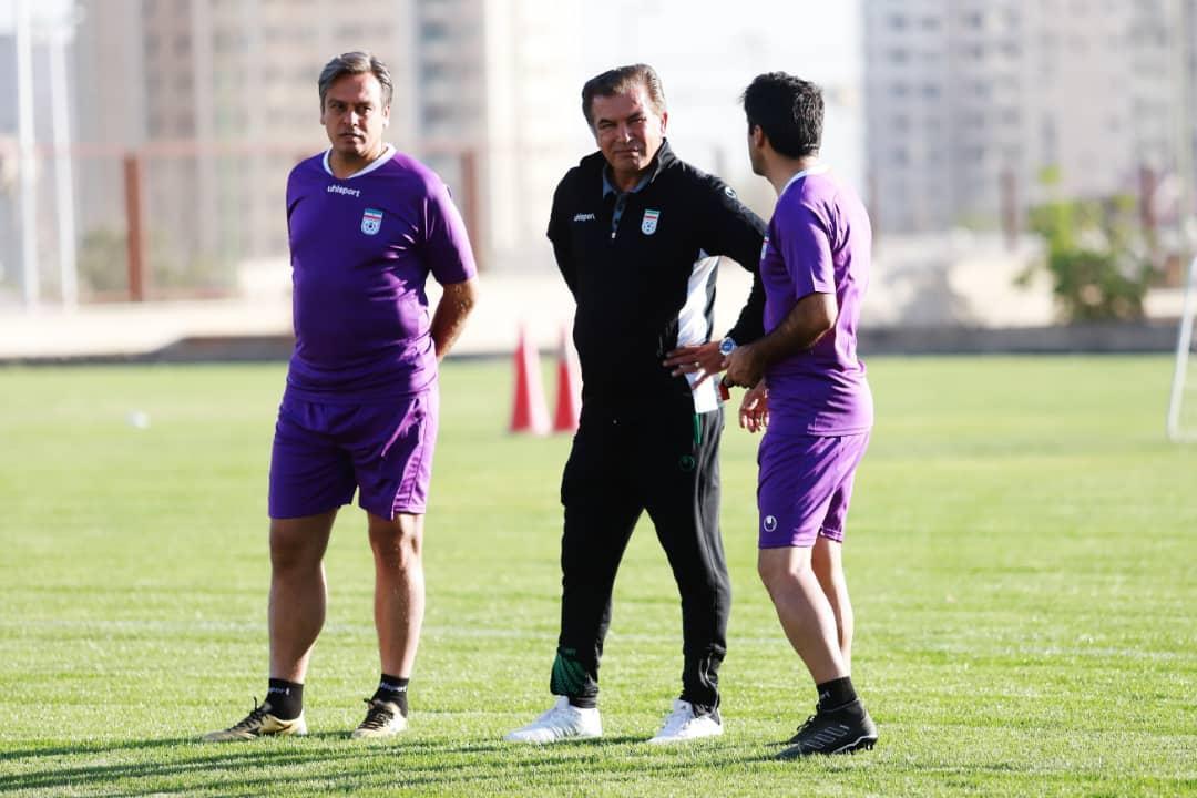 نخستین تمرین تیم ملی فوتبال امید زیر نظر حمید استیلی