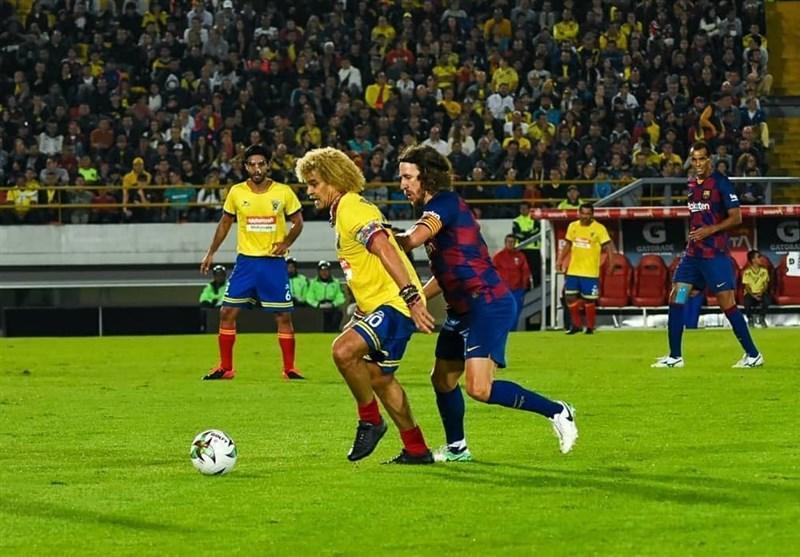 تساوی اسطوره های بارسلونا مقابل ستارگان کلمبیا
