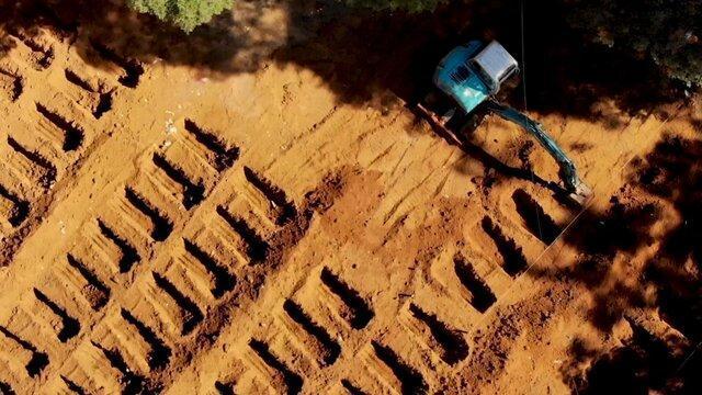 افزایش شیوع کرونا در برزیل و حفر هزاران گور برای قربانیان