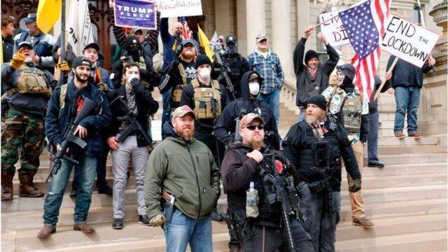 ترامپ هم با معترضان به قرنطینه هم صدا شد