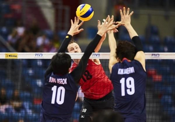لیگ ملت های والیبال، کره جنوبی مغلوب کانادا شد