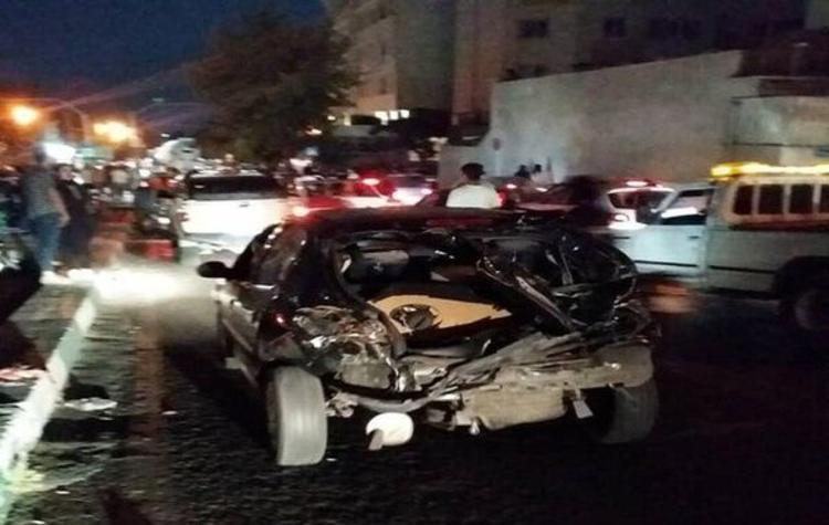 تصادف کامیون با 16 خودرو سواری در تهران