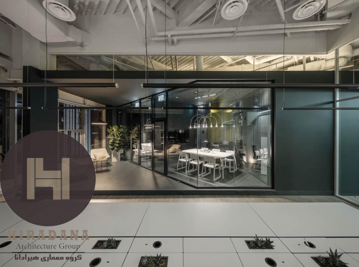 طراحی داخلی یکی از شعب شرکت جهانی گرامرلی