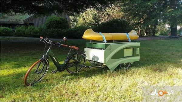 کمپ انفرادی با دوچرخه الکترونیکی هوشمند