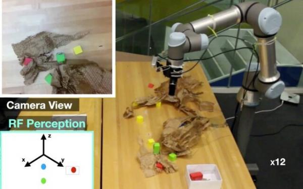 روباتی که اشیای پنهان را پیدا می نماید