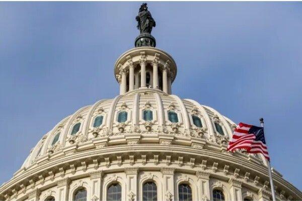 پرچم های کنگره آمریکا به حالت نیمه برافراشته درآمد
