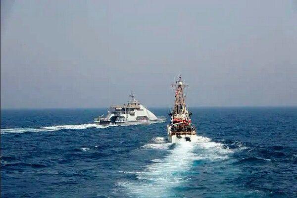 رویارویی خشن کشتی های جنگی ایران و آمریکا در خلیج فارس