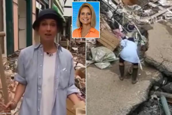 خانم خبرنگار هنگام مالیدن گِل به لباس هایش سوژه شد!